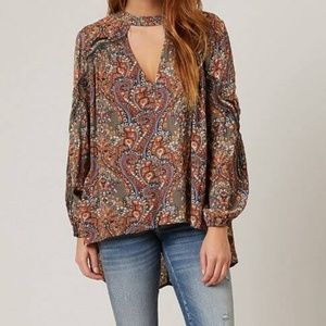 Embroidered cut-out Printed Top  GIMMICKS size M